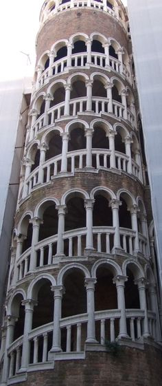 Scala Contarini del Bovolo  It may seem slightly odd for a staircase to be a tourist attraction, but in Venice all things are possible. This external spiral staircase is an attractive architectural curiosity which merits a visit.