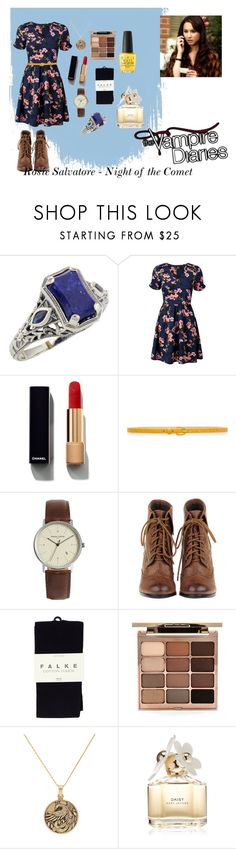 """Rosie Salvatore #TheVampireDiaries #TVD"" by thatnellegirl on Polyvore featuring Lazuli, Chanel, White House Black Market, Simon Carter, Falke, Stila, Alex and Ani, Marc Jacobs and OPI"