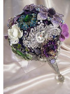 """The Rebekah"" Crystal Brooch Bouquets Inc."