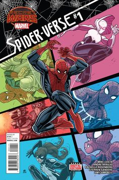 MARVEL COMICS (W) Mike Costa (A) Andre Arujo (CA) Nick Bradshaw Spinning out of the SPIDER-VERSE event, a team of Spiders finds themselves face-to-face with Battleworld! Starring SPIDER-GWEN, SPIDER-M
