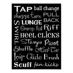 Tap Dance Subway Art Poster by DesignsbyJaime