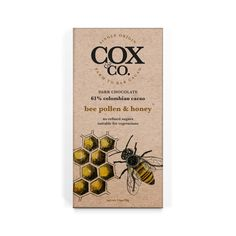 The Bee Pollen and Honey is backed with cacao dark chocolate blended with honey and a sprinkling of bee pollen to deliver a rich dark chocolate hit balanced with just the right level of sweetness. Cacao Chocolate, Bee Pollen, Honey Bees, How To Make Chocolate, Dark, Sweet, Bees, Candy
