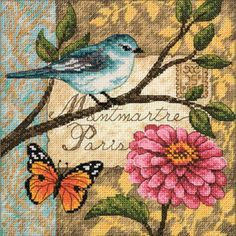 The Bird Poste Counted Cross Stitch Kit is a Gold Collection Petites counted cross stitch design from Dimensions.  Kit includes 18 count ivory cotton Aida, pre-sorted cotton thread, needle, chart, and instructions.  Includes convenient thread organizer with threads pre-sorted and clearly identified by color code number. $11.95