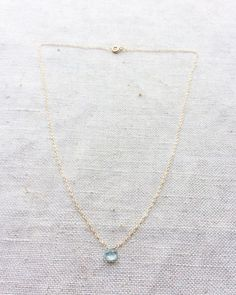 Aquamarine Necklace  Aquamarine Jewelry  by SforSparkleShop