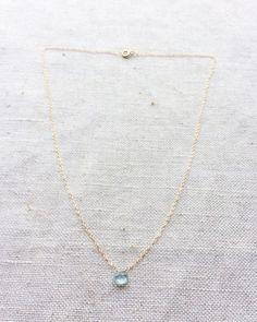 Aquamarine Necklace  Aquamarine Jewelry  by SforSparkleShop
