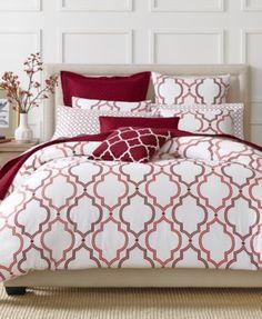 CLOSEOUT! Charter Club Damask Designs Garnet Ogee 3 Piece Comforter Sets, Only at Macy's    macys.com