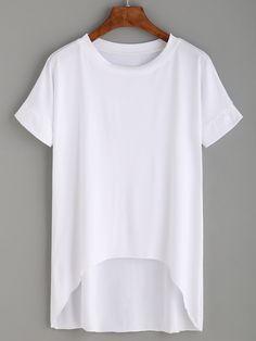 Shop White High Low T-shirt online. SheIn offers White High Low T-shirt & more to fit your fashionable needs.