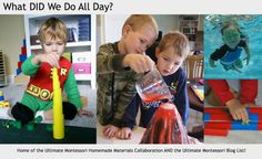 What DID we do all day?: Great Montessori blog. Also has a list of Montessori blogs on the side of her blog by age group and whether or not you homeschool.