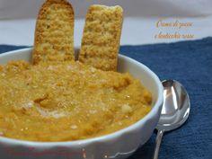 Crema di zucca e lenticchie rosse