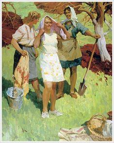 Сорока Аркадий Васильевич (Украина, 1921-2010) «Подолянки» 1969