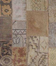 brown-gray-oriental-rug-patchwork-fabric-floor-decor