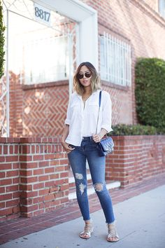 aimee_song_white_shirt_and_distressed_skinny_jeans_quilted_chanel_bag