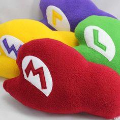 Super Mario Hat Cushions