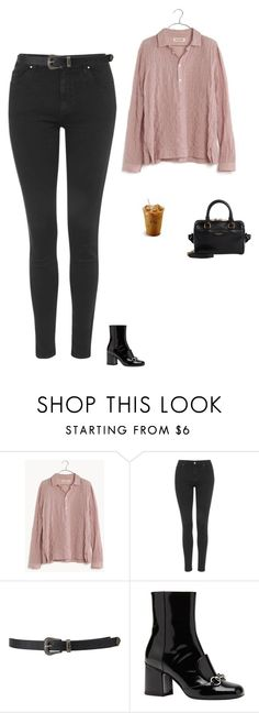 """Untitled #1538"" by tayloremily218 on Polyvore featuring Madewell, Topshop, Forever 21, Gucci and Yves Saint Laurent"