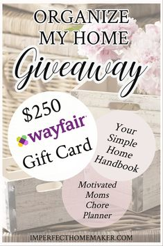 Organize My Home Giveaway: Enter to Win!
