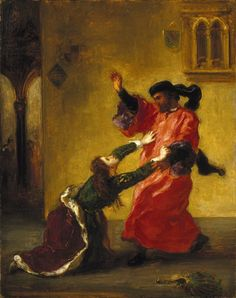 'Desdemona Cursed by her Father' by Eugène Delacroix, ca. 1852