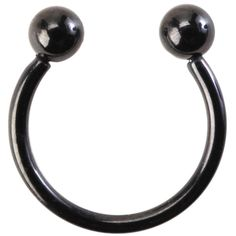 Hot Topic Black Faux Septum Ring ($5.20) ❤ liked on Polyvore featuring jewelry, rings, black, imitation rings, imitation jewellery, fake jewelry, artificial jewellery and imitation jewelry
