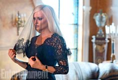 Woman in black: Penelope Cruz dons a black veil to portray Donatella Versace in first dramatic stills from American Crime Story Donatella Versace, Gianni Versace, Penelope Cruz, American Horror Story Seasons, American Crime Story, Brad Simpson, Entertainment Weekly, People Vs Oj Simpson, The People Vs Oj