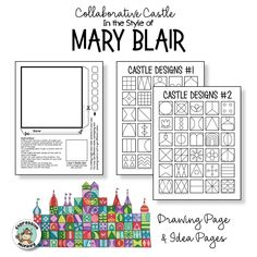 Collaborative Castle in the Style of Mary Blair Mary Blair, Group Art Projects, Collaborative Art Projects For Kids, Third Grade Art, Outsider Art, Disney Artists, Student Drawing, Art Lessons Elementary, Art Classroom