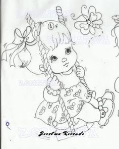ideas embroidery patterns girl coloring pages Christmas Embroidery Patterns, Embroidery Monogram, Hand Embroidery Designs, Embroidery Applique, Cute Coloring Pages, Coloring Pages For Girls, Adult Coloring, Coloring Books, Painting Patterns