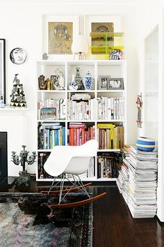 bookcase + art