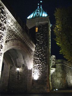 Night time.  Old Quebec City.