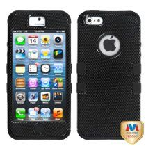 MYBAT IPHONE5HPCTUFFIM022NP Premium TUFF Case for iPhone 5 - 1 Pack - Retail Packaging - Carbon Fiber/Black