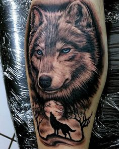 Nice sexy back indian wolves tattoos for women