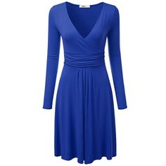 For the Issa London Blue Engagement Wrap Dress
