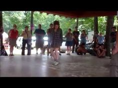 Clifftop 2014 - Flatfoot Dancing Workshop Dance Demonstration - YouTube