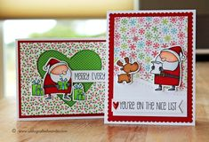 My Favorite Things Jingle All The Way stamps - cards by Wanda Guess