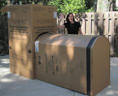 Cardboard train DIY (on a smaller scale, so Aaron doesn't freak out)