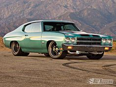 1970 Chevrolet Chevelle, Just for something different it runs a twin turbo diesel.