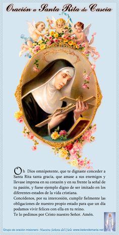 Santa Rita De Cascia, St Rita Of Cascia, Religious Images, Religious Quotes, Oracion A Santa Rita, Sta Rita, Sainte Rita, Catholic Tattoos, Spanish Prayers