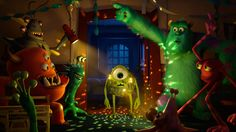 MONSTERS UNIVERSITY Trailers and images. The first trailers and images for Pixar's Monsters University, starring Billy Crystal and John Goodman. Disney Pixar, Walt Disney, Disney Animation, Disney Love, Disney Magic, Animation News, Disney Nerd, Fiesta Monster University, Monster University Birthday