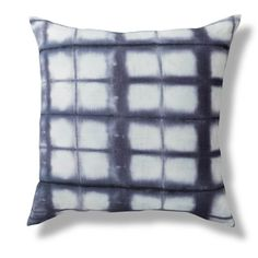 Buy Rebecca Atwood's Shibori Throw Pillow in Blue Navy. This fabric was hand-dyed in our studio, sewn in Brooklyn and is ready for your couch, bed or anywhere in your home. Shibori, Michigan, Cottage, Throw Pillows, Navy, Bed, Home, Products, Hale Navy