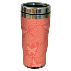 Tree-Free Greetings 77603 Contemporary Orange Elegant Butterfly Art Sip 'N Go Travel Tumbler, 16-Ounce, Multicolored : Amazon.com : Home & K...