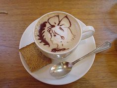 little girl cappuccino