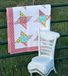 Charm Pack quilt. No link, just the idea.