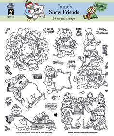 Janie's Snow Friends Stamp Set by Hot Off The Press Inc (4101136)