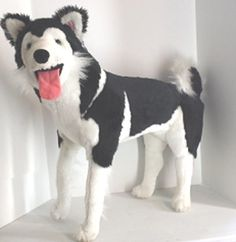 Dog Husky Puppy Large Pet GIANT Toy Gift Present Melissa & Doug EUC
