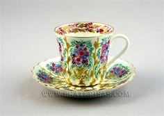 Ekaterina's Imperial Porcelain &Tea. Golden Pitchers Cup and Saucer