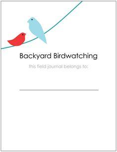 Backyard bird watching book; land of nod