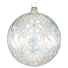 Waterford Crystal Holiday Heirlooms Silver Grande Snowflake Ball Ornament
