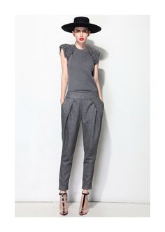 Flecked wool tapered pants by QQBoutique on Etsy, £108.00 (Expensive...but if would buy them in a second!)