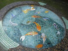 1000 images about outside work on pinterest butterfly for Koi fish pool table