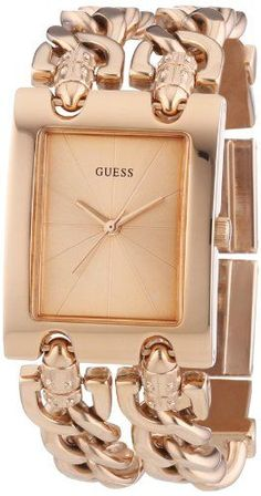 Women's Wrist Watches - GUESS W0073L2 Womens Trendy Rose GoldTone DoubleChain Bracelet Watch * Click on the image for additional details. (This is an Amazon affiliate link)