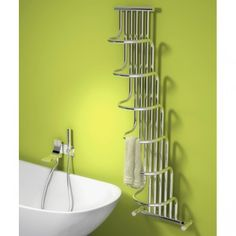 Phoenix Olivia Curved Bathroom Designer Heated Towel Rail Ladder Adorable Designer Heated Towel Rails For Bathrooms Design Ideas
