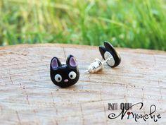 Boucles d'oreilles puces clous chaton Jiji par NiOuiNinoucheGeek
