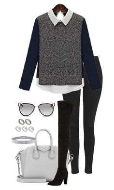 """Untitled #1114"" by hernandezjenni ❤ liked on Polyvore featuring Topshop, Givenchy, Stuart Weitzman, ASOS, Ice and Michael Kors"